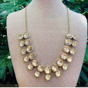 Jewelry - Gold and Crystal Statement Necklace